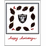 Oakland Raiders Holiday Enclosure Card