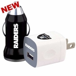 Oakland Raiders Home & Away USB Car Charger