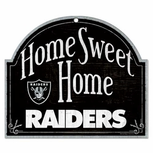 Oakland Raiders Home Sweet Home Sign - Click to enlarge