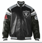 Oakland Raiders Home Team Pleather Jacket