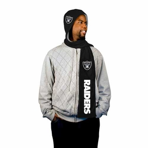Oakland Raiders Hooded Fleece Scarf - Click to enlarge