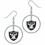 Oakland Raiders Hoop Earrings