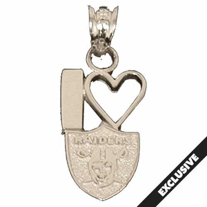 Oakland Raiders I Heart Raiders Shield Charm - Click to enlarge
