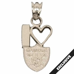 Oakland Raiders I Heart Raiders Shield Charm