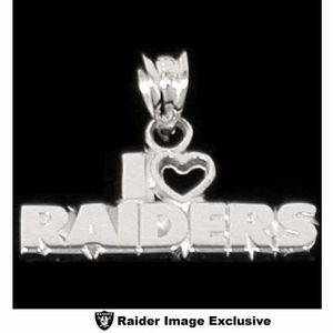 Oakland Raiders I Heart Raiders Team Name Charm - Click to enlarge