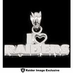 Oakland Raiders I Heart Raiders Team Name Charm