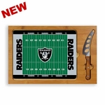 Oakland Raiders Icon Glass Top Cutting Board