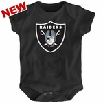 Oakland Raiders Infant Black Logo Onesie