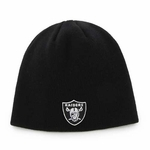 Oakland Raiders Infant Black Uncuffed Knit Hat