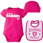 Oakland Raiders Infant Bodysuit, Cap and Bib Set