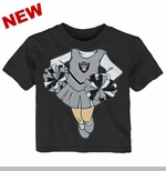Oakland Raiders Infant Cheerleader Dreams Short Sleeve Tee
