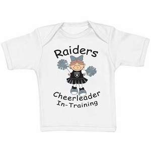 Oakland Raiders Infant Cheerleader In Training Tee - Click to enlarge