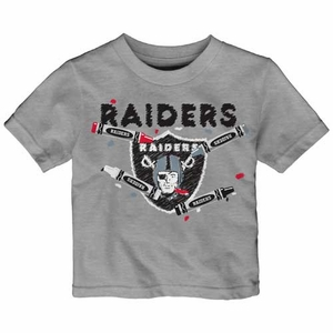 Oakland Raiders Infant Crayon Short Sleeve Tee - Click to enlarge