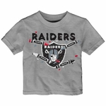 Oakland Raiders Infant Crayon Short Sleeve Tee