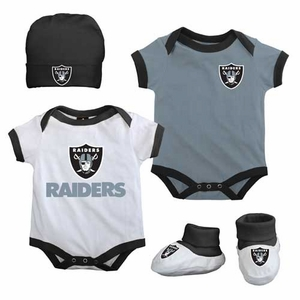 Oakland Raiders Infant Four Piece Gift Set - Click to enlarge