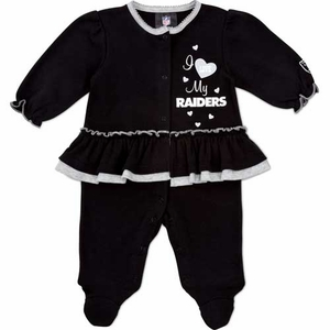 Oakland Raiders Infant Girls Solid Sleep N Play Set - Click to enlarge