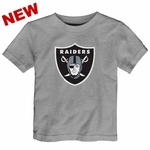 Oakland Raiders Infant Heather Logo Tee