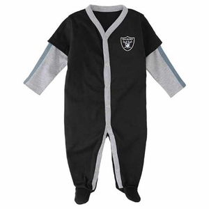 Oakland Raiders Infant Jersey Coverall - Click to enlarge