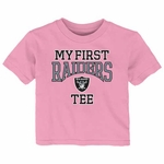 Oakland Raiders Infant My First Pink Tee