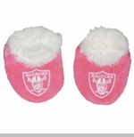 Oakland Raiders Infant Pink Baby Bootie