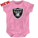 Oakland Raiders Infant Pink Logo Onesie