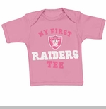 Oakland Raiders Infant Pink My First II Tee