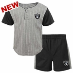 Oakland Raiders Infant Short Set