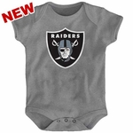 Oakland Raiders Infant Steel Logo Onesie