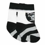 Oakland Raiders Infant Stripe Socks