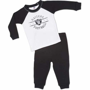 Oakland Raiders Infant Thermal PJ Set - Click to enlarge