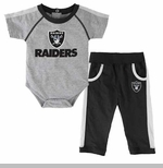 Oakland Raiders Infant Two Piece Creeper and Pant Set
