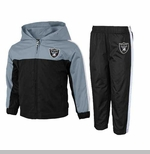 Oakland Raiders Infant Two Piece Full Zip Top and Pant Set