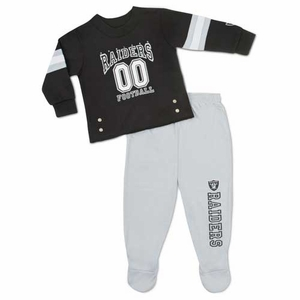 Oakland Raiders Infant Two Piece Pajama Set - Click to enlarge