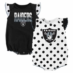 Oakland Raiders Infant Two Piece Polka Dot Set