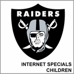 Oakland Raiders Internet Specials Childrens Merchandise