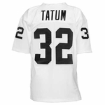 Raiders Jack Tatum 1976 White Throwback Jersey