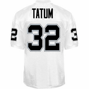 Oakland Raiders Jack Tatum Reebok Authentic White Jersey - Click to enlarge