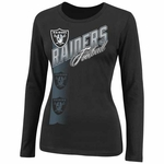 Oakland Raiders Jazzed Up II Long Sleeve Black Tee
