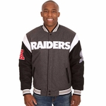Oakland Raiders JH Design Reversible Wool Jacket
