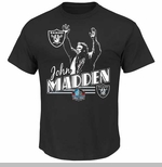 Oakland Raiders John Madden Hall of Fame Tee