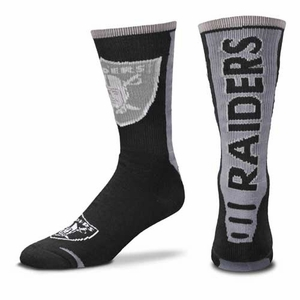Oakland Raiders Jump Curve Sock - Click to enlarge