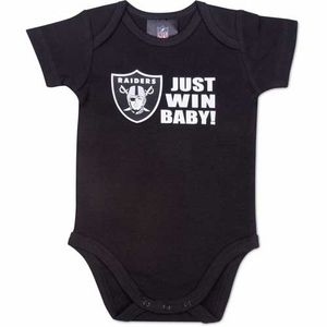 Oakland Raiders Just Win Baby Onesie - Click to enlarge