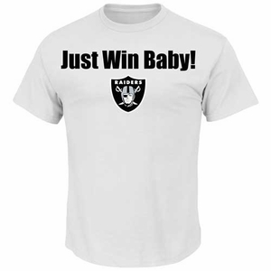Oakland Raiders Just Win Baby White Tee - Click to enlarge