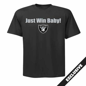 Oakland Raiders Just Win Shield Logo Tee - Click to enlarge