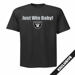 Oakland Raiders Just Win Shield Logo Tee