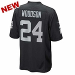 Oakland Raiders Juvenile Charles Woodson Black Game Jersey
