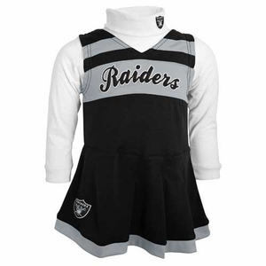 Oakland Raiders Juvenile Cheerleader Two Piece Set - Click to enlarge