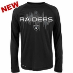 Oakland Raiders Juvenile Echo Long Sleeve Tee