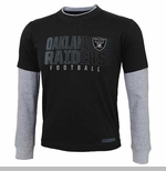 Oakland Raiders Juvenile Faux Layer Long Sleeve Tee