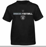 Oakland Raiders Juvenile Line Of Football Tee